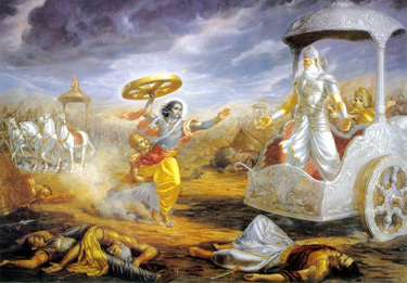 Krishna and Bhishma